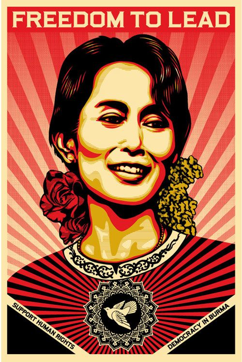 Shep Fairey - Aung San Suu Kyi