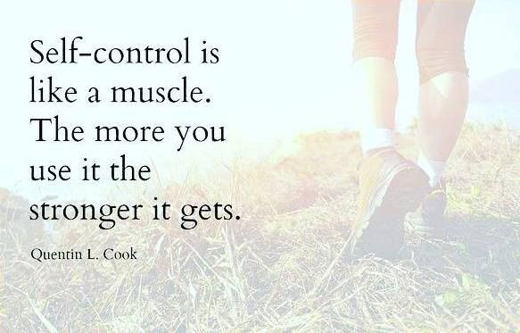 """Exercising self-control and living righteously strengthen our ability to resist temptation. This is true both in the spiritual realm and in temporal matters."" … ""Self-control is like a muscle: the more you use it, the stronger it gets."" From #ElderCook's http://pinterest.com/pin/24066179231992952 inspiring #LDSconf http://facebook.com/223271487682878 message http://lds.org/general-conference/2015/10/shipshape-and-bristol-fashion-be-temple-worthy-in-good-times-and-bad-times #ShareGoodness"