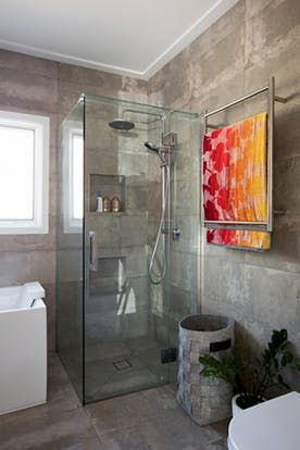 house tour a happy modern renovated melbourne home bathroom redbathroom ideasdream - Bathroom Ideas Melbourne