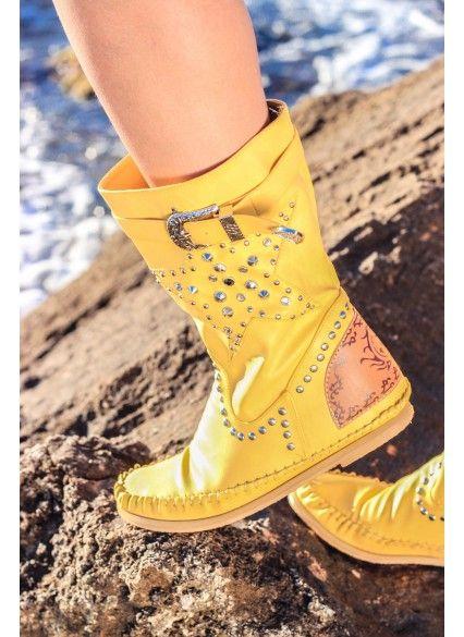 Bota Indianini Estrella - Amarillo