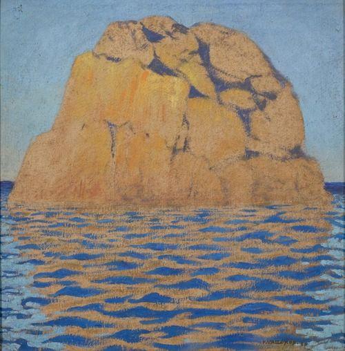Félix Vallotton (Swiss, 1865-1925), Rocher à Ploumanach, 1917.