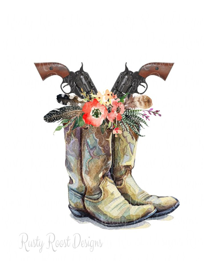 Cowgirl Boots Png Boots Sublimation Design Download