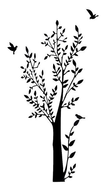 Väggdekor fåglar i träd  nu 178 kr