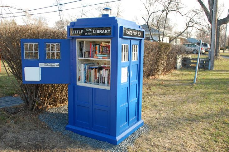 A Little Free Library TARDIS | Karen B. Nelson, via Book Riot