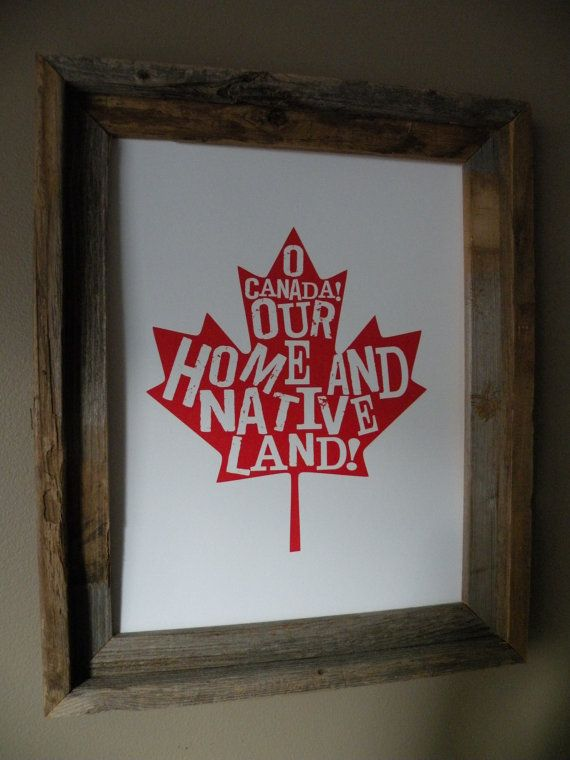 O Canada Map Print - Unframed