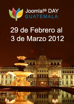 Joomla Day Guatemala will be held from Feb 29 to March 03 2012 in Guatemala City. This is a ideal opportunity for the Guatemalan Joomla community to come together & meet some of the Joomla enthusiastic and experts.
