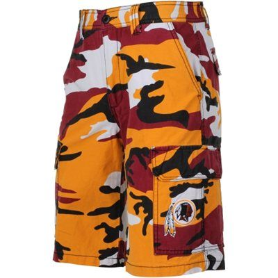 Cooler packed for a sunny beach day? Make sure you're decked out in the right gear to rep' the Redskins beachside. Throw on these camo board shorts and you're ready to hit the sand.