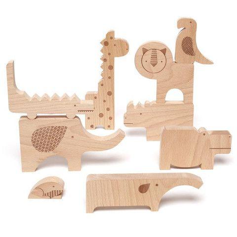 Houten safari dieren (puzzel) | Puzzels | deKleineVogelaar.nl