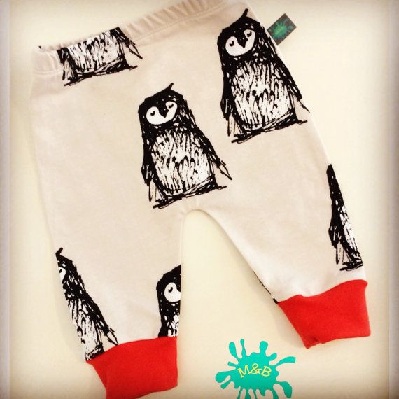 Penguin baby leggings - 6 mos