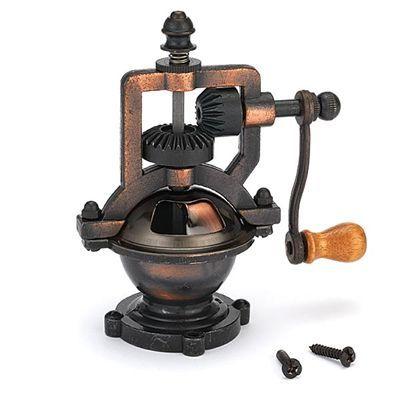 Antique hand crank pepper grinder kit mechanism from http for Pepper mill plans