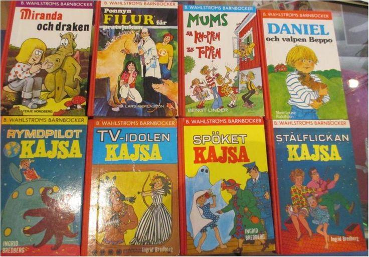 B. Wahlströms barnböcker, 8 st.