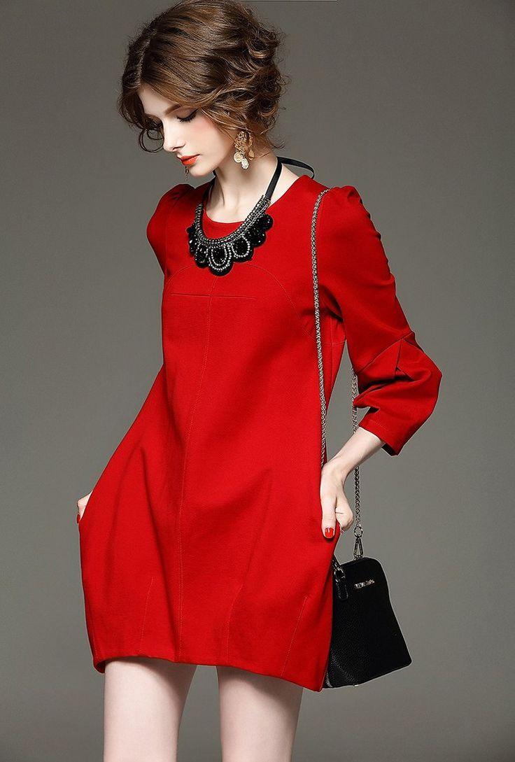 YuooMuoo Marka Tasarım Sonbahar Elbise Bayan Artı Boyutu Yüksek Kaliteli Kırmızı Siyah Elbise Zarif Avrupa Moda Parti Elbiseler Dış Giyim - http://www.geceelbisesi.com/products/yuoomuoo-marka-tasarim-sonbahar-elbise-bayan-arti-boyutu-yuksek-kaliteli-kirmizi-siyah-elbise-zarif-avrupa-moda-parti-elbiseler-dis-giyim/