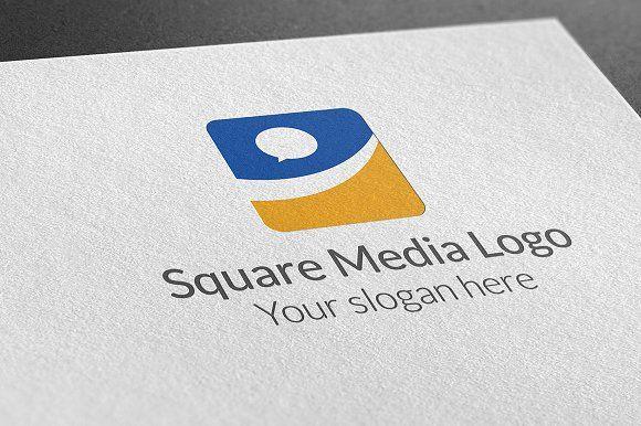 Square Media Logo Logo Design Template Logo Templates Media Logo