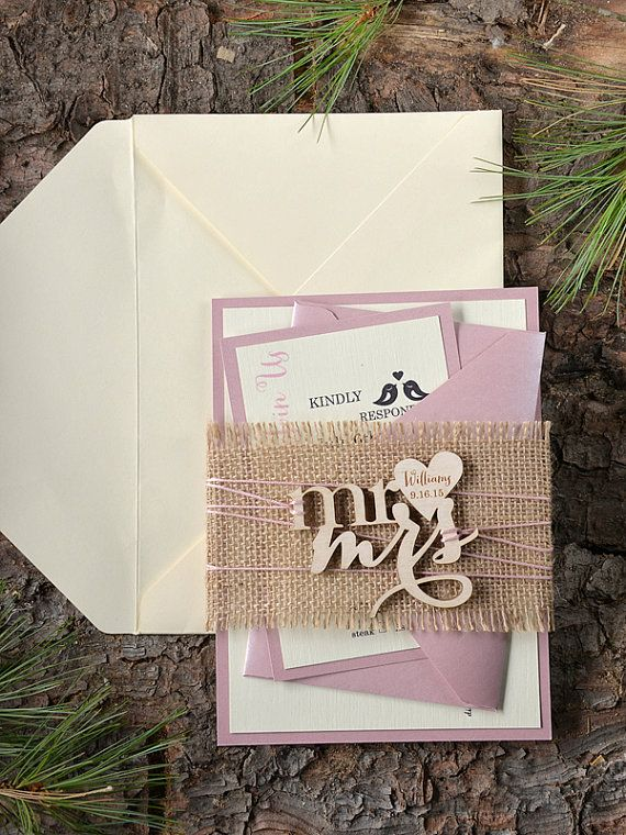 Custom annonce 20 rustique Invitation mariage par forlovepolkadots