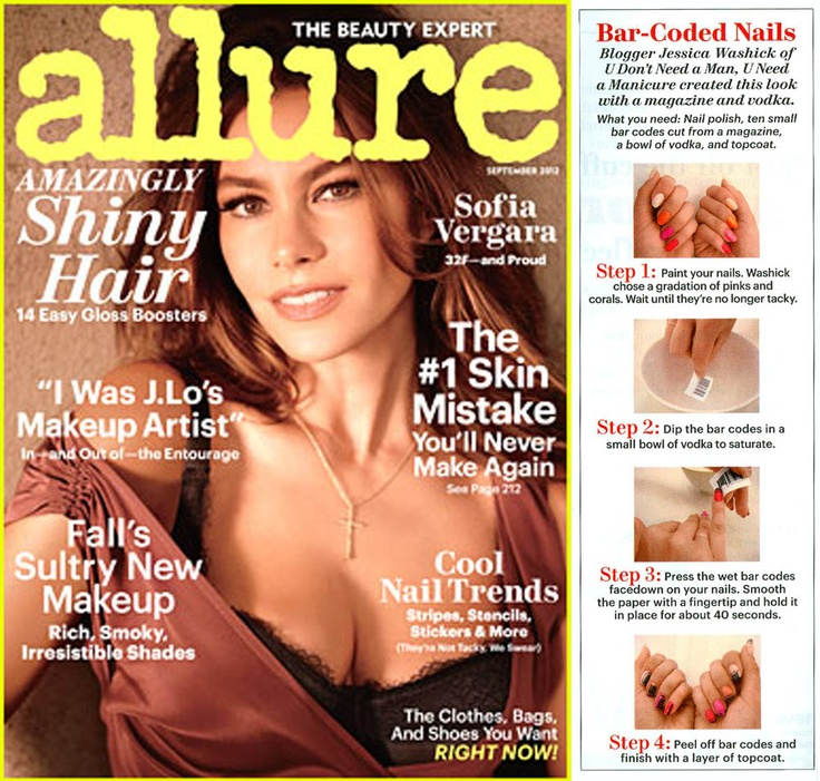 "see the step-by-step how-to for my ""Charge It"" manicure in the September Issue of Allure, in stores now #nailart"