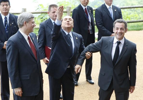Nicolas Sarkozy , Stephen Harper , Silvio Berlusconi