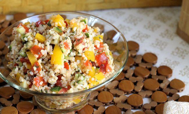 Lemon Balm and Summer Veggie Tabouli Salad by MomFoodie #Salad #Tabouli