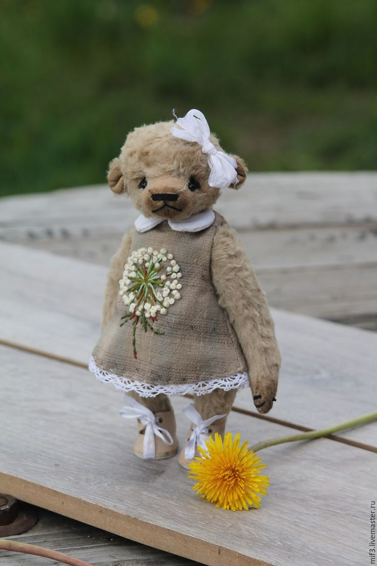 Cute Teddy Bear | Купить Тедди мишка. Одуванчик - белый, мишка тедди, мишка, мишка в подарок, мишка-тедди