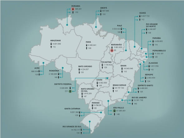 Infografico: celulares no brasil em abril