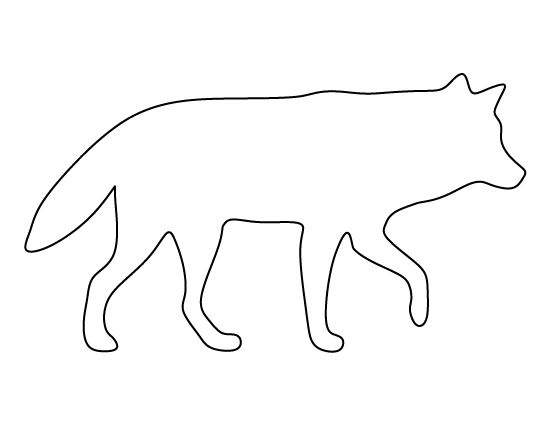 Wolf Pattern Use The Printable Outline For Crafts