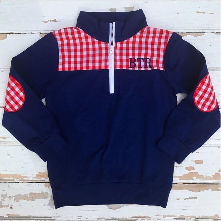 Navy Knit Pullover - Monogram It!