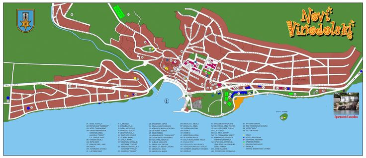 Novi Vinodolski City Map