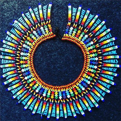 Collar #diseño #embera #mostacilla #indigena #arte #artesania #colombia