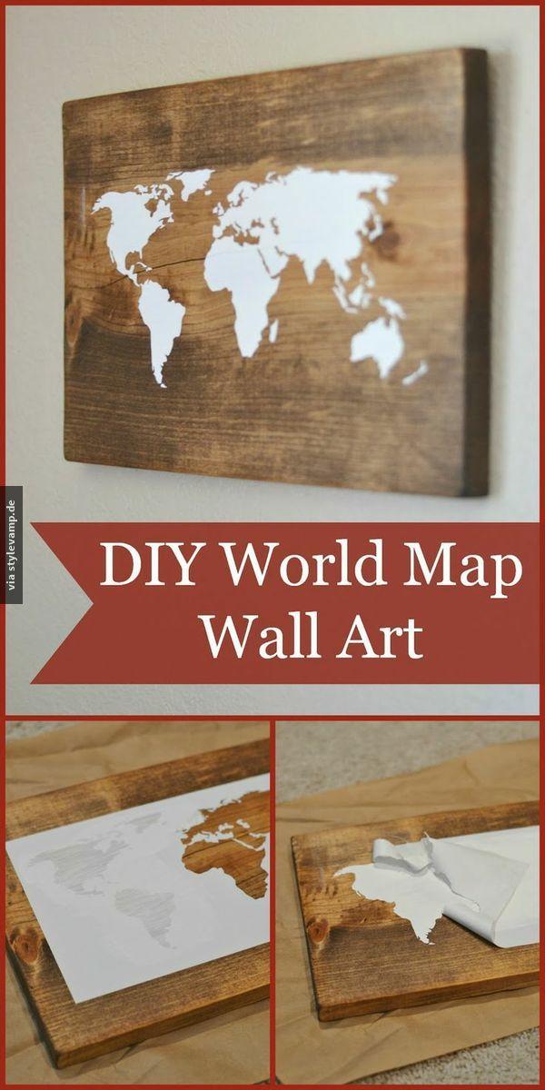 Selbst gemachte Weltkarte!