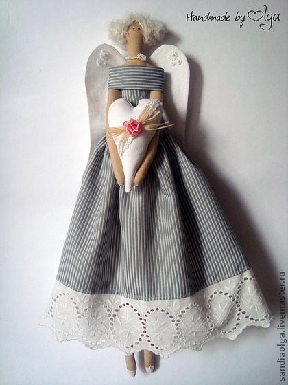 Куклы Тильды ручной работы. Ярмарка Мастеров - ручная работа Ангел хранитель. Handmade.