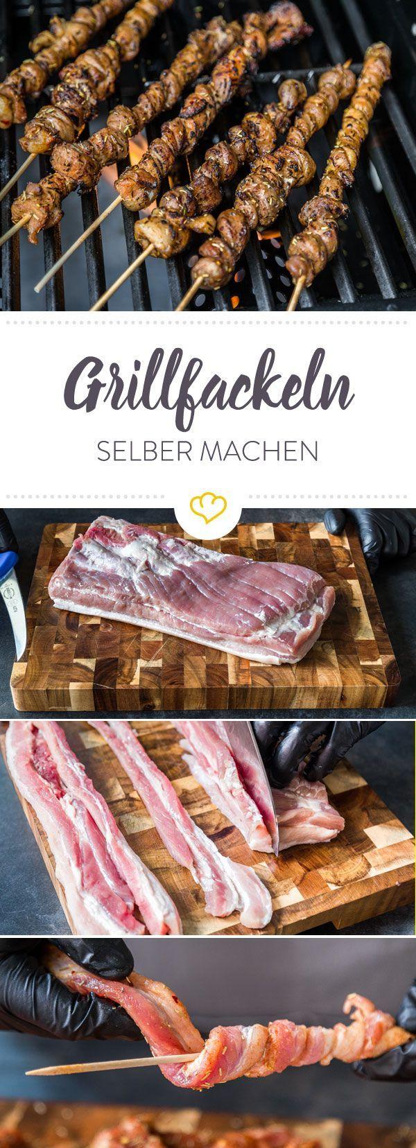 grillfackeln selber machen rezept fisch fleisch rezepte pinterest fackeln d nn und deins. Black Bedroom Furniture Sets. Home Design Ideas