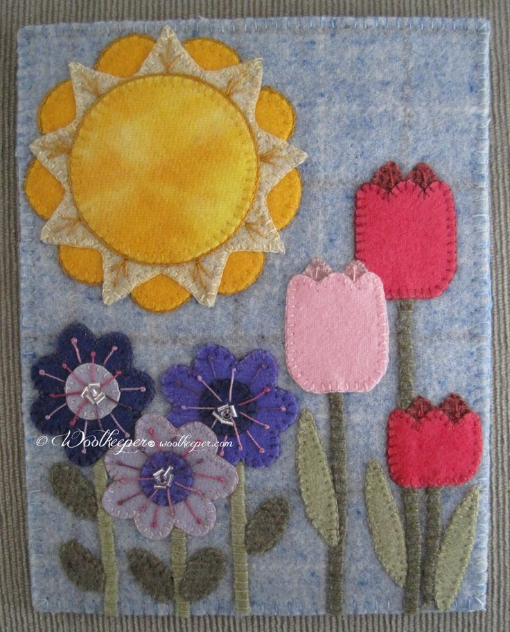 Season of Sunshine and Blooms at the woolkeeper.com shop. beautiful kits!!