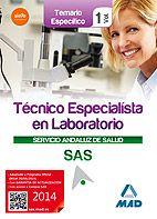 Este Manual está concebido para la adecuada preparación de las pruebas de acceso a la categoría de Técnico Especialista en Laboratorio del Servicio Andaluz de Salud, conforme al Nuevo Temario aprobado para las OPE 2013 y 2014