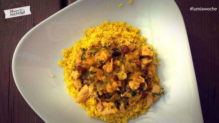 Marokkanisches Mandel-Orangen-Huhn