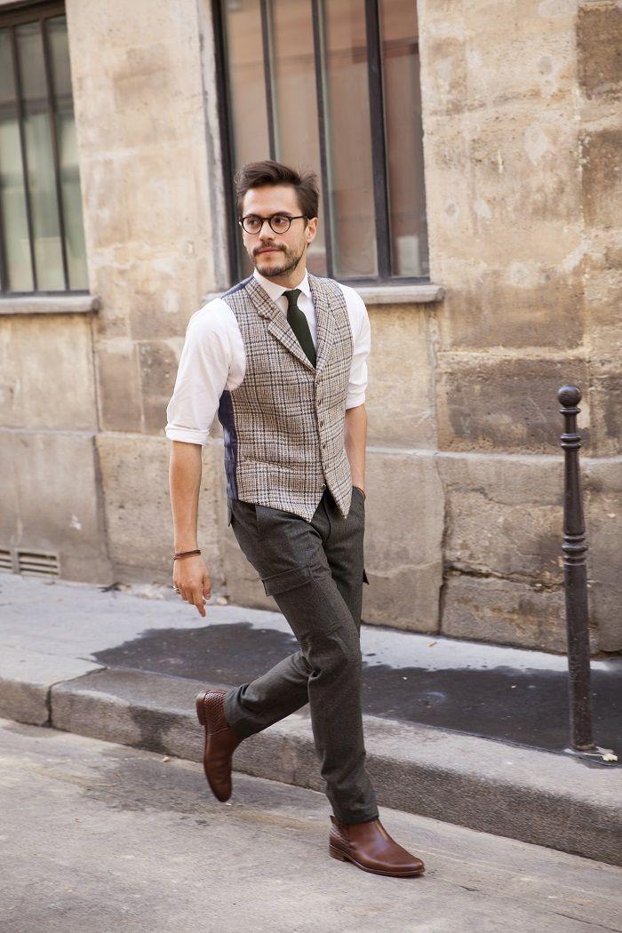 look pantalon cargo habillé homme