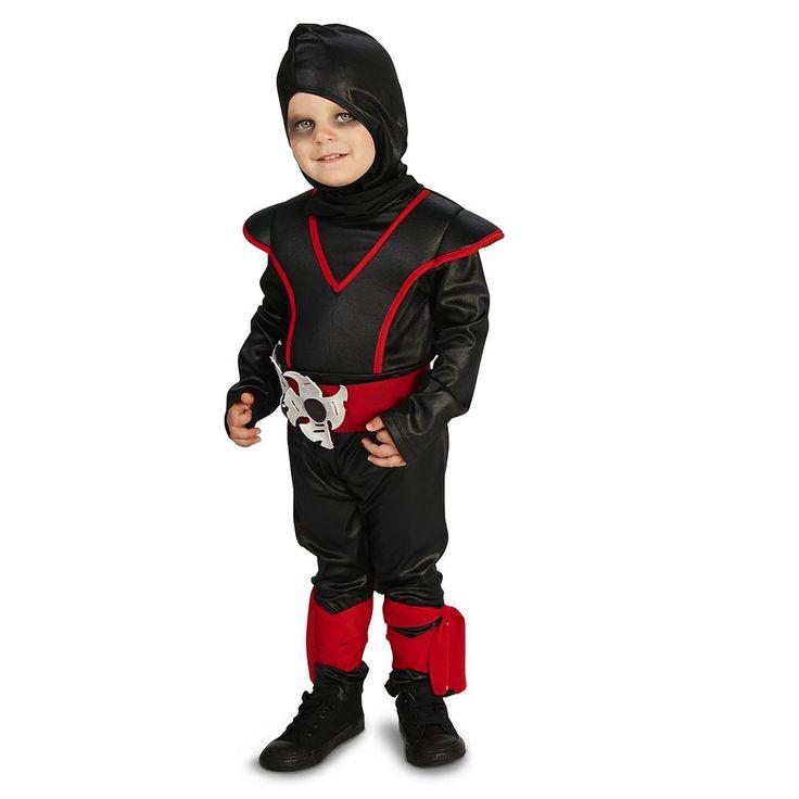Toddler Tough Black & Red Ninja Costume, Boy's, Size: 2T-4T, Multicolor