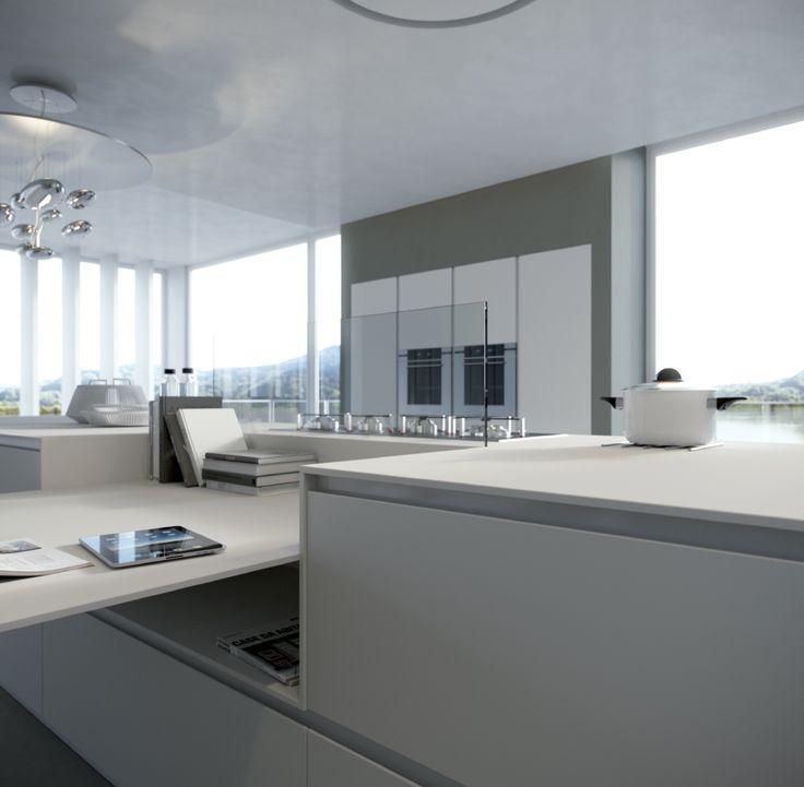 17 beste idee n over kookeiland tafel op pinterest keukeneetkamer hedendaagse keukens en - Keuken met bar tafel ...