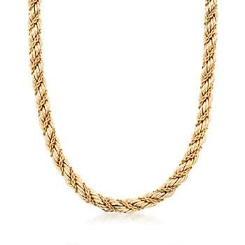 C. 1990. From our Estate collection, this Tiffany Jewelry necklace is classically refined with a subtle nod to nautical design. 14kt yellow gold twists for form a luxe, textural rope. Box clasp, 14kt yellow gold Tiffany Jewelry necklace. <b>Exclusive, one-of-a-kind Estate Jewelry.</b> Free shipping & easy 30-day returns. Fabulous jewelry. Great prices. Since 1952.