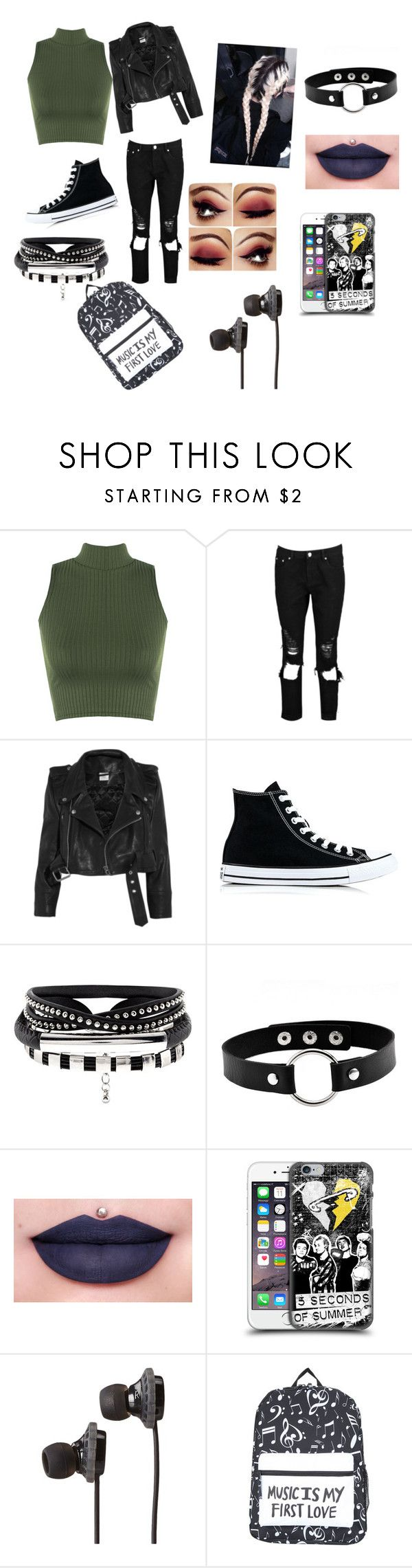 """Untitled #2"" by bubbles4life01 ❤ liked on Polyvore featuring WearAll, Boohoo, Vetements, Converse, Jeffree Star and SOL Republic"