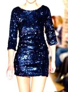 Glittery blue dress