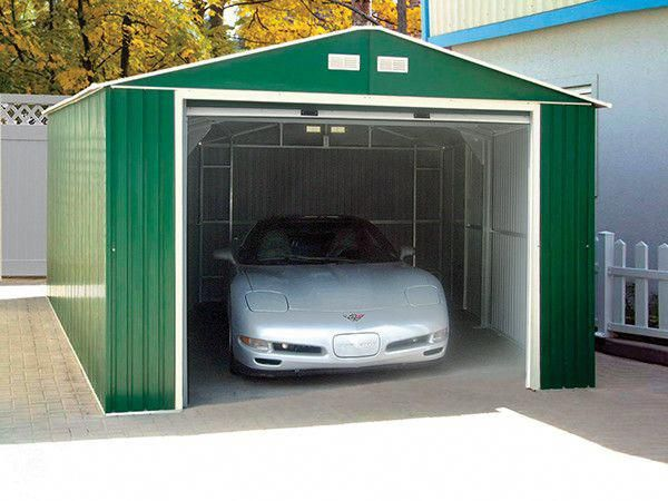 Imperial 12 Ft W X 20 Ft D Metal Garage Shed Metal Garages Metal Garage Buildings Vinyl Sheds