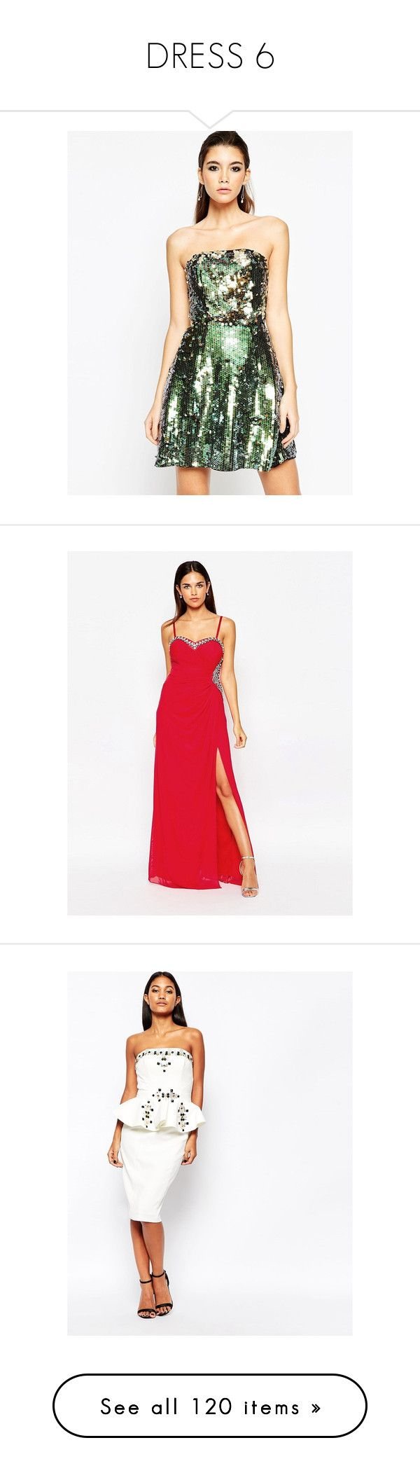 """""""DRESS 6"""" by missk2blue ❤ liked on Polyvore featuring dresses, multi, bandeau dress, short sequin cocktail dresses, asos cocktail dresses, white sequin dress, sequin dresses, orange, tall maxi dresses and orange maxi dress"""