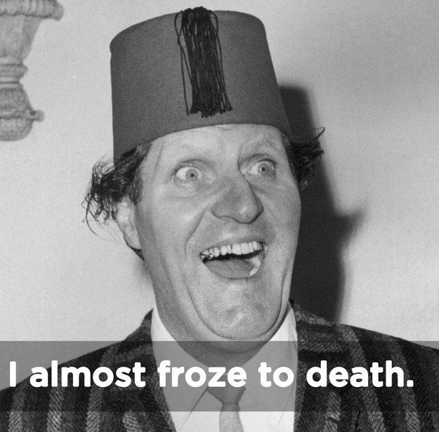 "Tommy Cooper: ""Once I painted a girl in the nude."" 