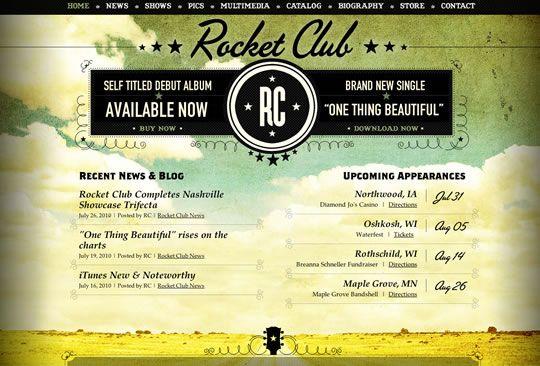Rocket Club Web Design