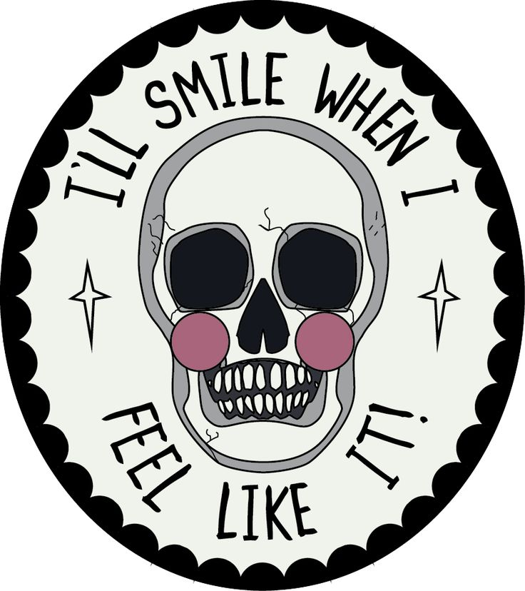 "I'll Smile When I Feel Like It!  The Grin Reaper Pin: Smile.... or don't, it's YOUR face!  Measures 1.25"" tall"