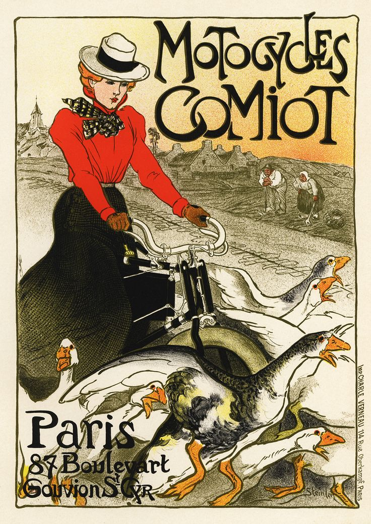 THEOPHILE STEINLEN. Motocycles Comiot. 1899.