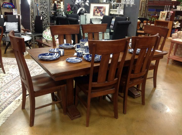 Beautiful Wood Dining Room Table With 6 Chairs 795 Available At Encore In St Louis