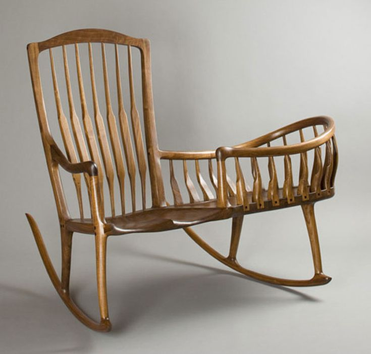 Mother And Baby Rocking Chair/cradle Combo.