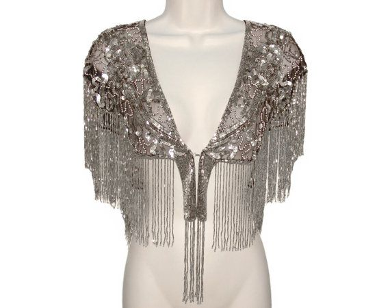 Art Deco Beaded Sequin Shawl, Fringed & Luxurious, 1920s to 1940s. Absolutely Gorgeous!