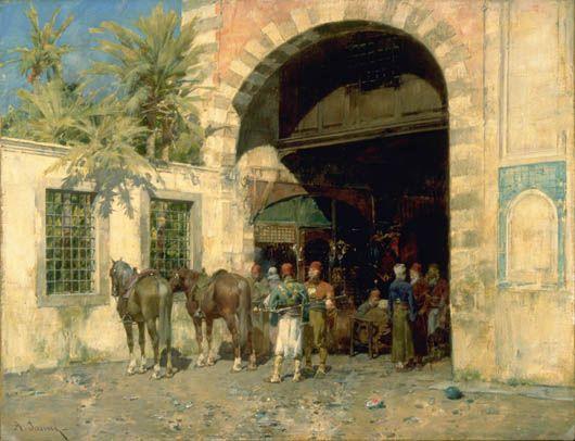 Entrée au bazar du Caire Pasini, Alberto