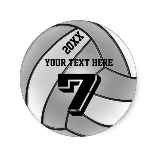 Volleyball Stickers with the current YEAR, YOUR NAME, and your Jersey NUMBER. Just Type in Any Text your wish into the template text boxes to the right of the volleyball stickers. Cool letter on a gray and white volleyball.  Personalized Volleyball Stuff for Girls, Women and Coach Gifts. Cool Pearlized Volleyball look. CLICK HERE:  http://giftsforcreativepeople.com/Personalized-VOLLEYBALL-Gifts-CLICK-HERE  ALL of Little Linda Pinda Designs CLICK HERE: http://www.Zazzle.com/LittleLindaPinda*/
